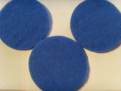 "3 X Compatible Fluval Fx5/fx6 Fine Filter Pads "" New ""free P&p"