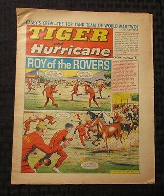 1967 TIGER AND HURRICANE UK Weekly July 15 ROY of the ROVERS FN+