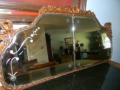 ANTIQUE ABOVE THE BUFFET MIRROR- EARLY 1900'S BEAUTIFUL ALL ORIGINAL