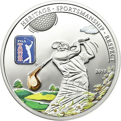 Cook Islands 2013 5$ PGA TOUR - Golf Club Silver Coin Proof