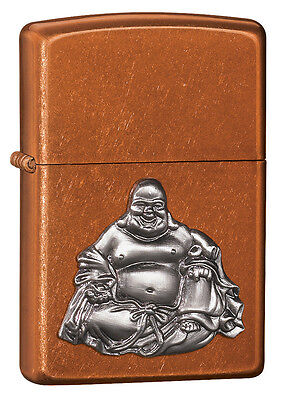 Zippo Windproof  Lighter With Buddha Emblem, 21195, New In Box