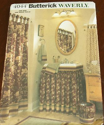 Butterick Pattern 4044 Bathroom Accessories by Waverly - Shower Curtain + More