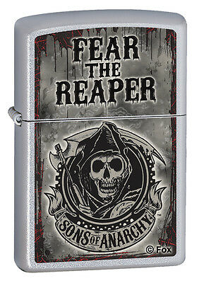 Zippo Fear The Reaper Satin, Sons Of Anarchy Lighter, 28502, New In Box