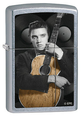 Zippo Windproof Elvis & Guitar Street Chrome Lighter, # 28431, New In Box