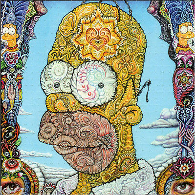 HOMER SIMPSON - BLOTTER ART - psychedelic perforated LSD acid art kesey leary