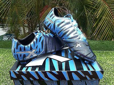 X- BLADES WILD THING FOOTBALL BOOT SPECIAL  GRASSPORT SIZE 9.5 USA 8.5  UK blue