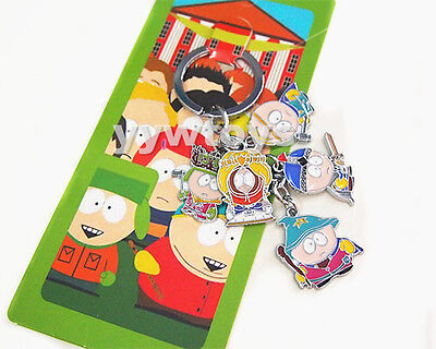 South Park Toy Figure Doll Kid Children Gift Metal Keychain Keyring New