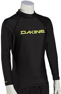 DaKine Boy's Heavy Duty LS Rash Guard - Black / Yellow - New