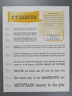 Type Specimen of P.T. Barnum, ATF