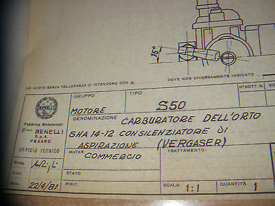 DELLORTO carburetor SHA 14-12- 1981  BENELLI S-50  - Technical drawing-DELL'ORTO
