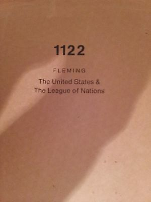 The United States and the League of Nations, 1918-1920 (1932, Hardback)