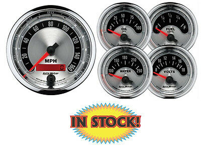 "Auto Meter American Muscle Electric 3-3/8"" 5-Gauge Set 1202"