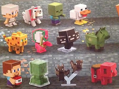 Minecraft Mini Figures Stone Series 2 Complete 12 Set New Sealed Unopened in Box