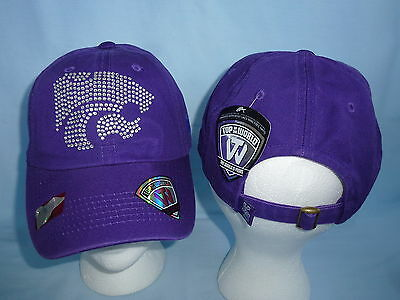 KANSAS STATE WILDCATS Butterfly style CAP/HAT  T.O.W. Womens OSFA NWT $20 retail