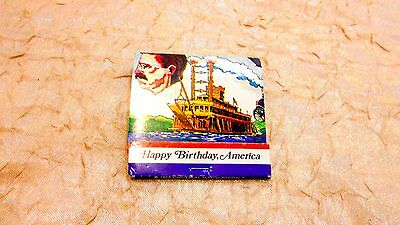 Vintage HAPPY BIRTHDAY AMERICA 1975 Matchbook Match Cover Matches