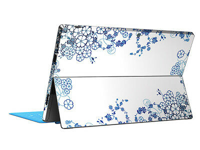 Blue Flowers Skin Sticker Cover Protector Decal For Microsoft Surface RT Tablet