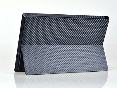Black Carbon Fiber Skin Sticker Protector Cover Decal For Microsoft Surface Pro
