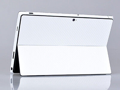 White Carbon Fiber Tablet Skin Sticker Cover Decal For Microsoft Surface Pro