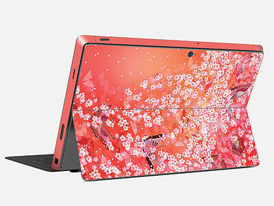 Pink Cherry Vinyl Tablet Skin Sticker Protector Cover For Microsoft Surface Pro