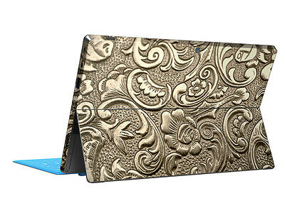 Golden Flower Skin Sticker Decal Tablet Cover Protector For Microsoft Surface RT