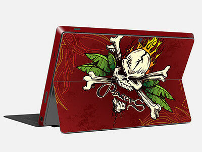 Skull Vinyl Skin Tablet Sticker Protector Cover Decal For Microsoft Surface Pro