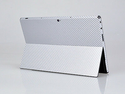 Silver Carbon Fiber Decal Sticker Skin Cover For Microsoft Surface RT Tablet