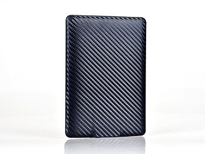 Black Carbon Fiber Sticker Tablet Skin Cover Decal For Amazon Kindle Paperwhite