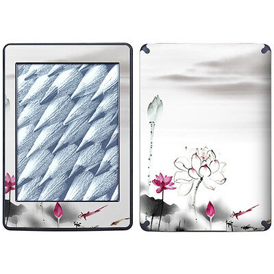 Pink Lotus Sticker Skin Cover Protector For Amazon Kindle Paperwhite Tablet