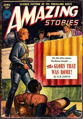 Science Fiction Pulp AMAZING STORIES - April 1951 - Isaac Asimov, Ogden Whitney