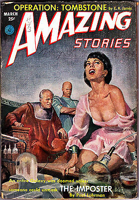 Science Fiction Pulp AMAZING STORIES March 1953 - Rog Phillips, Noel Loomis