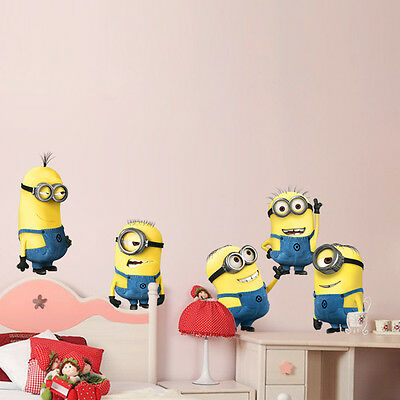 Despicable Me Minions Kid's Room Mural Home Decor Car Laptop Wall Stickers A1404