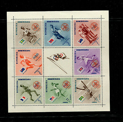Dominican Republic 1956 Olympics Scouts Scott B6-10+CB4-6var  Footnote 2 Sheets