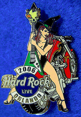 ORLANDO LIVE BIKETOBERFEST SEXY LINGERIE WITCH MOTORCYCLE 06 Hard Rock Cafe PIN