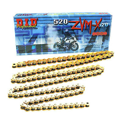 DID 520 ZVM-X Gold X-Ring Superbike Drive Chain ( all lengths )