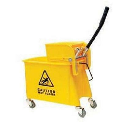 24 Quart Commercial Wet Mop Bucket & Wringer Combo Yellow Janitorial