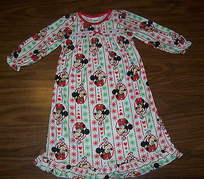Toddler Girls DISNEY MINNIE MOUSE  Nightgown Pajamas  Size 2T - NEW NWT $28