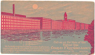 Original Color Illustrated Vintage Ink Blotter from Charles R. Raymond Agency