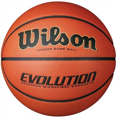 "NEW Wilson Evolution Game Basketball YOUTH Size Game Ball 27.5"" Size 5 IN STOCK"
