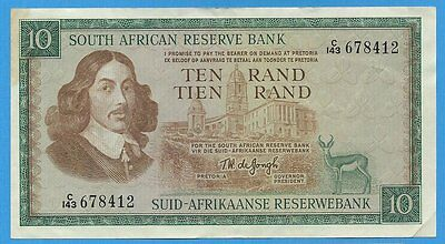 1967 South Africa 10 Rand Note P114b