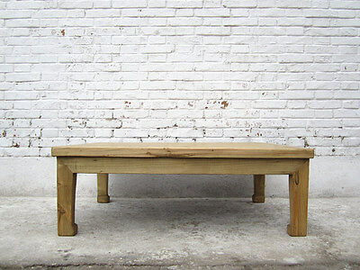 CHINA medium sized low table console natural pine wood tavolino I D SD.D.51