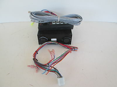 USED Federal Signal Vector Vision lightbar control head with amplifier and cable