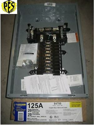 Price Drop! ~ New Square D Qo120L125G Panel Single Phase 20 Ckt 125A Mlo Loadcen