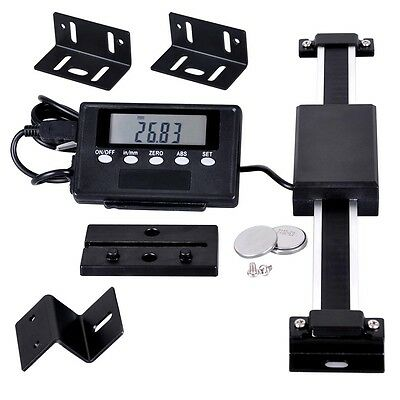 Vertical LCD Digital DRO Quill Large Readout Scale For Bridgeport Mill Lathe 6""