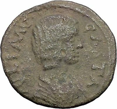 JULIA DOMNA 193AD Antioch in Pisidia Tyche Authentic Ancient Roman Coin i47800