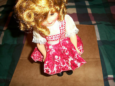 RARE NM SHIRLEY TEMPLE DOLL VINTAGE ANTIQUE IDEAL TOY RED WHITE DRESS MOVIE STAR
