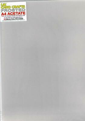 A4 Frosted Acetate 300 Micron x 5 Sheets - UKCC0240
