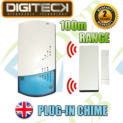 A4B WIRELESS SHOP VISITOR BELL Door ENTRY Magnet Contact Alert CHIME ALARM 100M