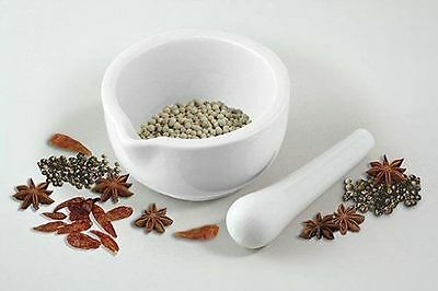 11 cm Small Porcelain Natural White Pestle And Mortar Granite Herb Spice Grinder