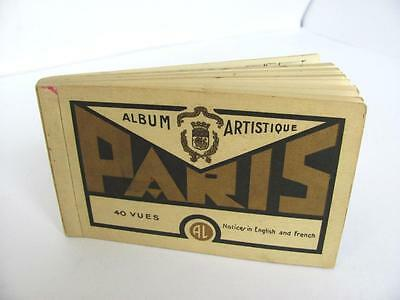 1920s ANTIQUE FRENCH ALBUM BOOK w/BLACK & WHITE POST CARDS FROM PARIS