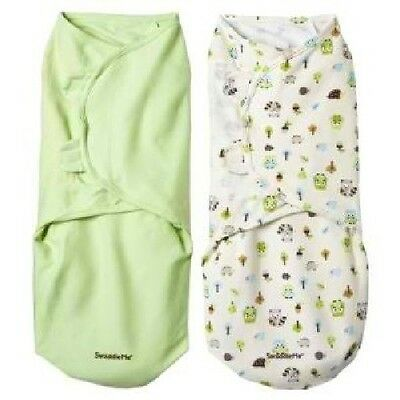 2 PACK Summer Infant Large Swaddle Me Swaddling Blanket Wrap, Woodland/Sage